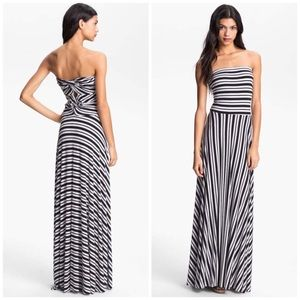 Felicity & Coco Stripe Strapless Maxi Dress